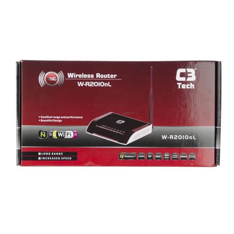 Roteador Wireless Antena fixa 150MBPS W R2010NL - C3Tech  - ShopNoroeste.com.br