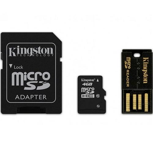 Cartão de Memória Kingston MicroSD Card 4GB + Leitor USB MBLY4G2/4GB  - ShopNoroeste.com.br