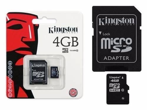 Cartão de Memoria 4GB microSDHC com Adaptador SD (classe10) - SDC10/4GB Kingston  - ShopNoroeste.com.br
