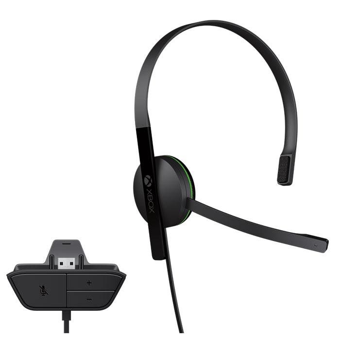 Headset Microsoft Chat Headset com fio Xbox One - S5V-00002  - ShopNoroeste.com.br