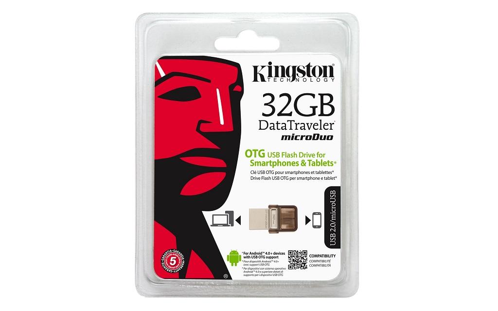 Pen Drive Kingston DataTraveler microDuo 32GB DTDUO 32GB  - ShopNoroeste.com.br