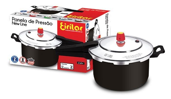 Panela de Pressão Fechamento Externo Antiaderente New Line 5 Litros - Eirilar  - ShopNoroeste.com.br