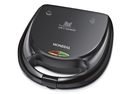 Conjunto Especial Pratic Duo Black Mondial KT-55 127V - Liquidificador + Sanduicheira  - ShopNoroeste.com.br