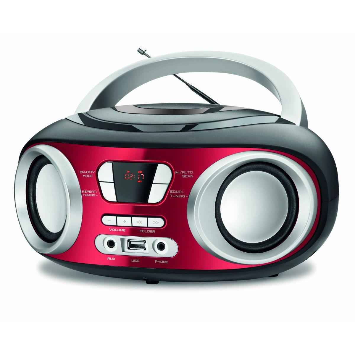 Rádio Portátil Mondial BX-17 com Entrada USB, Entrada Auxiliar e Rádio FM – 6 W  - ShopNoroeste.com.br