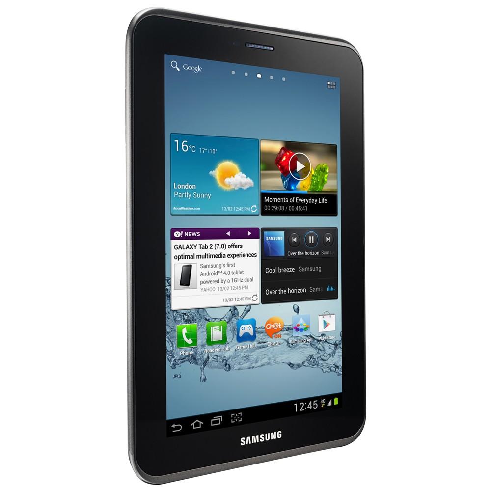 Tablet Samsung Galaxy Tab 2 7.0 P3100 com Tela 7´ Android 4.0, Processador Dual Core 1.0 GHz, 16GB, Câmera 3.2MP, Wi-Fi, 3G - Cinza  - ShopNoroeste.com.br