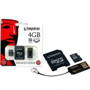 Cartão de Memória Kingston MicroSD Card 4GB + Leitor USB MBLY4G2/4GB