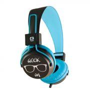 Fone de Ouvido Headset Multimídia Preto/Azul C3 Tech - MI-2358RL