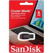 Pen Drive 8GB Cruzer Blade - Sandisk
