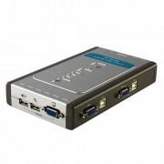Chaveador KVM 4 Portas USB c/ 2 Cabos D-Link DKVM-4U