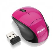 Mini Mouse Multilaser Sem Fio Wireless 2.4Ghz Rosa MO151