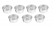 Kit Formas de Pudim Alumínio Marlux 7 Peças 12cm, 14cm, 16cm, 18cm, 20cm, 22cm, 24cm Polida