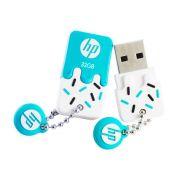 Pen Drive HP 32GB Sorvetinho USB 2.0 mini Azul V178B Prova d' Agua