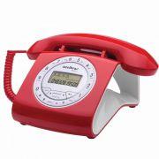 Telefone Intelbras TC 8312 Retro Vermelho