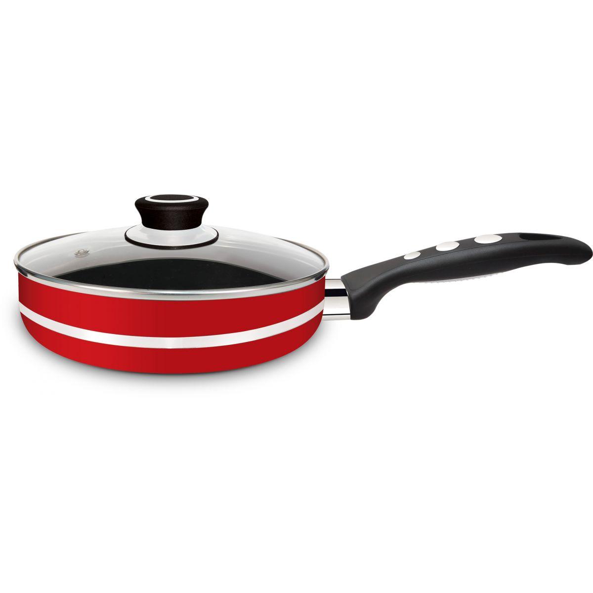 Frigideira Alta Gourmet Red 24 - Eirilar  - ShopNoroeste.com.br