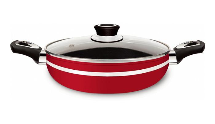Frigideira Alta Gourmet Red 24 Com Alça - Eirilar  - ShopNoroeste.com.br