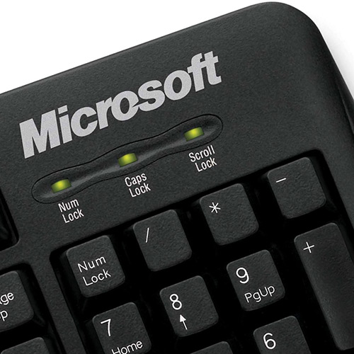 Teclado Microsoft 200 c/ Fio USB JWD-00001  - ShopNoroeste.com.br