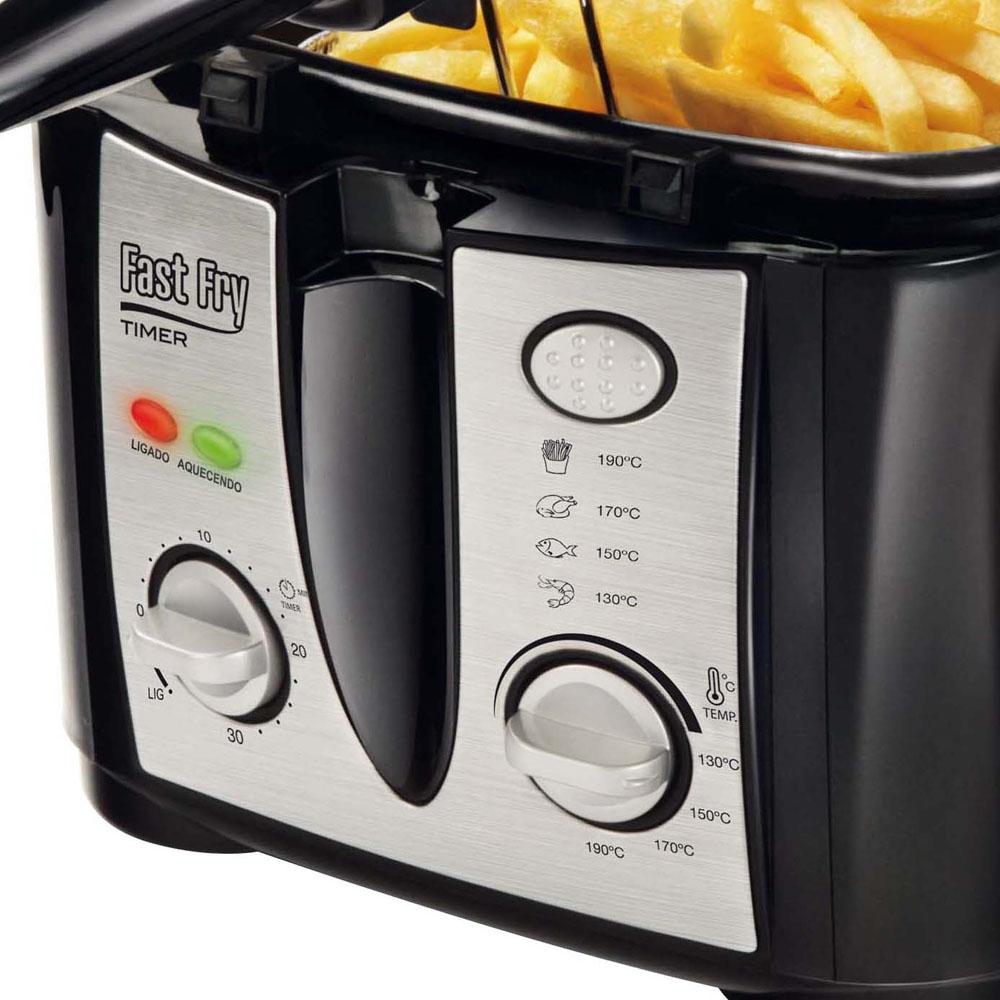Fritadeira Elétrica Fast Fry Timer Premium FT-02 127V - Mondial  - ShopNoroeste.com.br