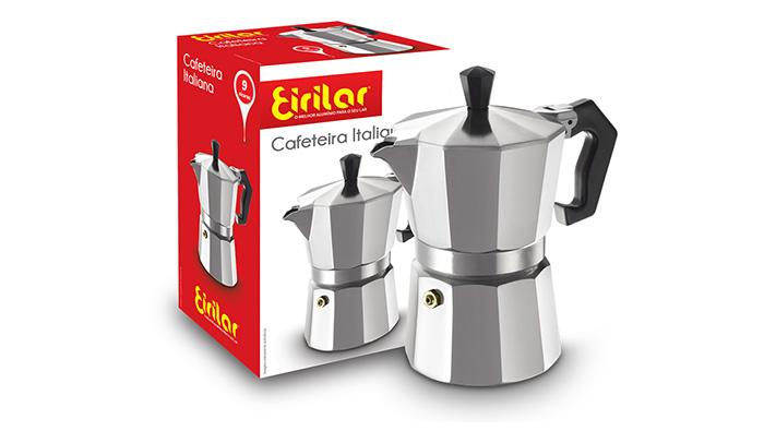 Cafeteira Italiana Alumínio 9 Xícaras - Eirilar  - ShopNoroeste.com.br