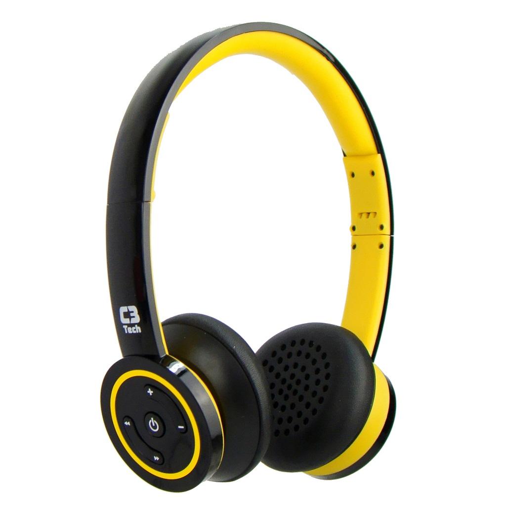 Fone Bluetooth 3.0 C3 Tech Amerelo H-W955 YL  - ShopNoroeste.com.br