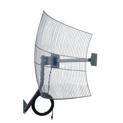 Antena Internet Direcional 2.4ghz 25 Dbi PQAI-2510W + Cabo de 10metros  - ShopNoroeste.com.br