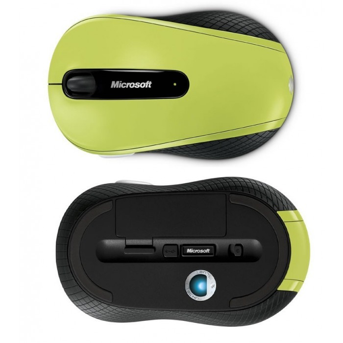 Mouse Wireless Mobile Microsoft 4000 USB Bluetrack Verde D5D-00033  - ShopNoroeste.com.br