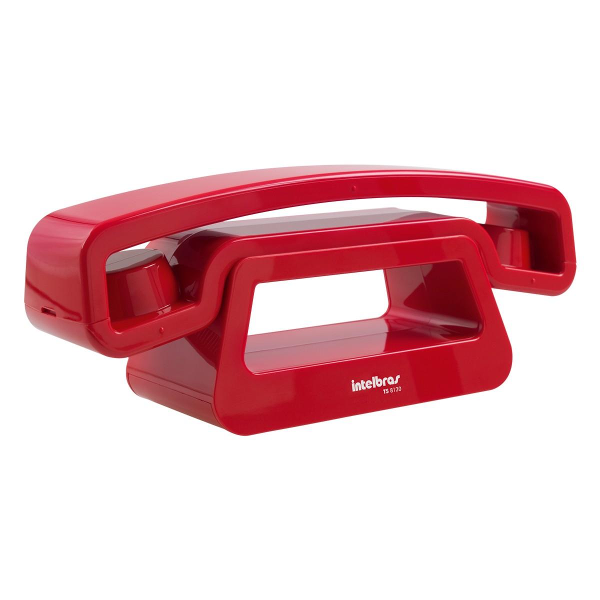Telefone Intelbras sem Fio TS 8120 Vermelho  - ShopNoroeste.com.br