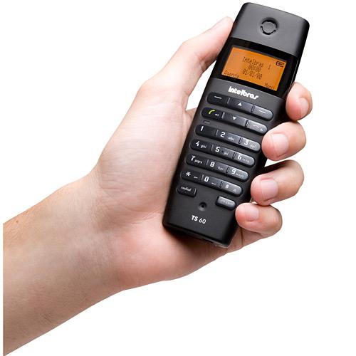 Telefone sem Fio com Identificador de Chamadas Viva-Voz e Display Iluminado TS60V Preto - Intelbras  - ShopNoroeste.com.br