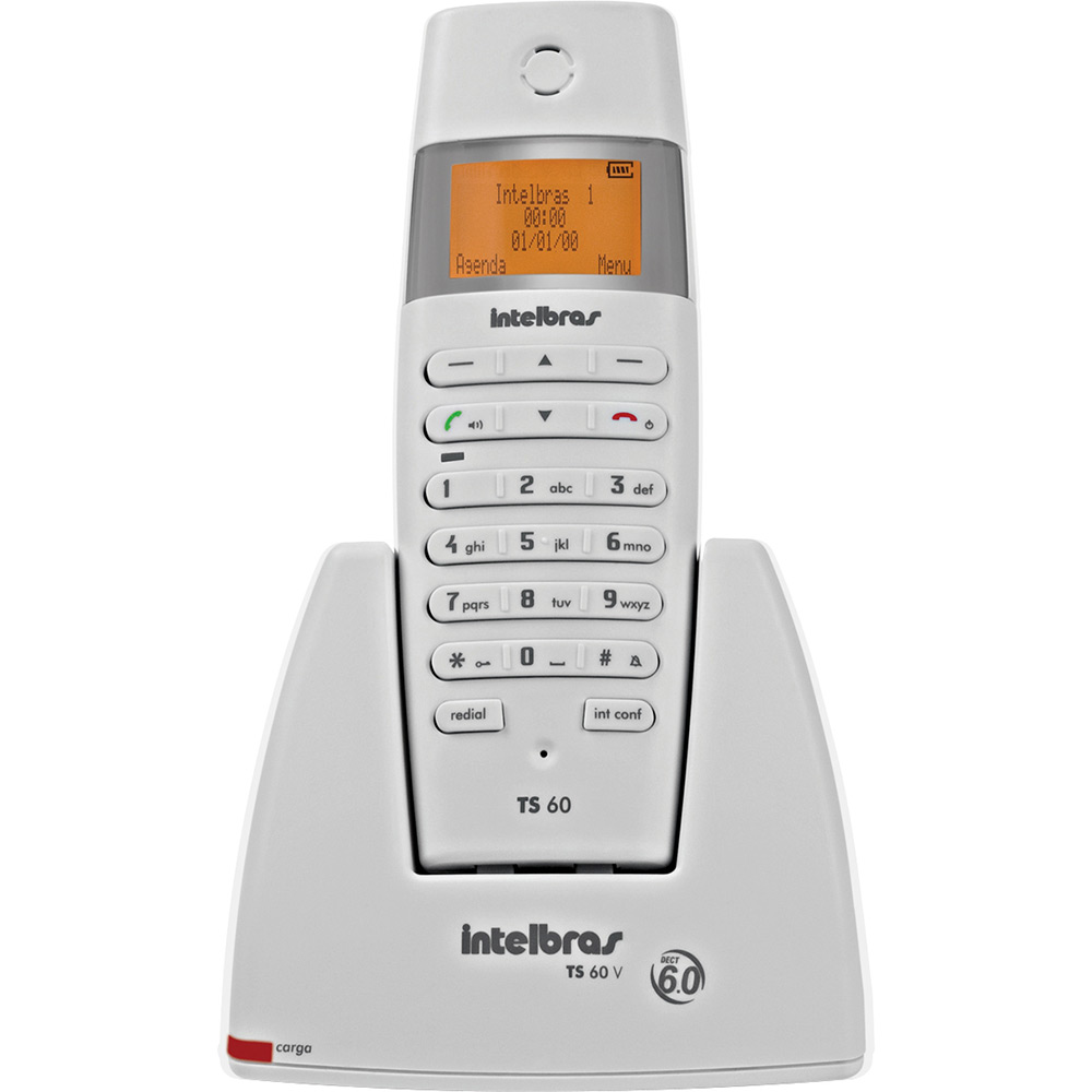 Telefone Sem Fio TS60 V Branco - Intelbras  - ShopNoroeste.com.br