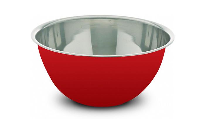 Tigela Inox Red 18cm - Eirilar  - ShopNoroeste.com.br
