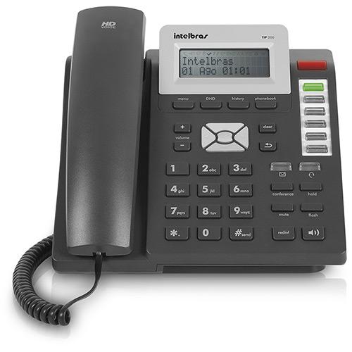 Telefone IP TIP 200 Lite Grafite - Intelbras  - ShopNoroeste.com.br