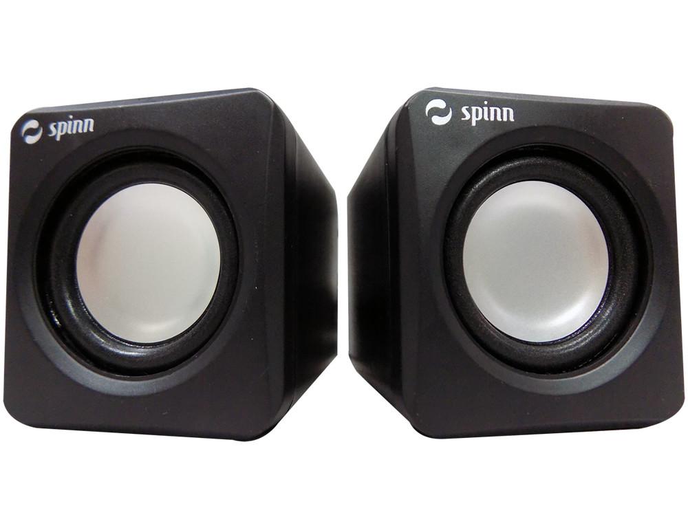 Caixa de Som 4w Rms SP 100 USB Preto - Spinn  - ShopNoroeste.com.br