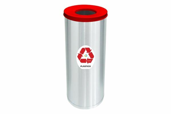 Lixeira Inox Abertura Superior Só Lixeiras 32 Litros Plástico  - ShopNoroeste.com.br