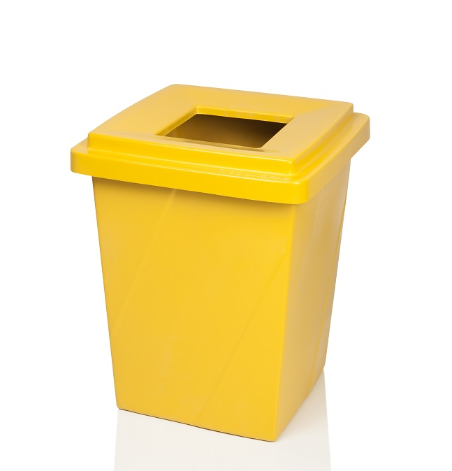 Lixeira Com Abertura Superior 52 Litros Metal Amarela - Só Lixeiras  - ShopNoroeste.com.br