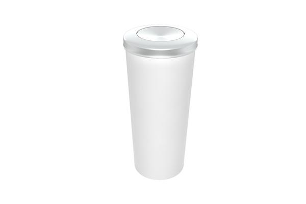 Lixeira com Tampa Vai e Vem Inox 20 Litros Branco - Só Lixeiras  - ShopNoroeste.com.br