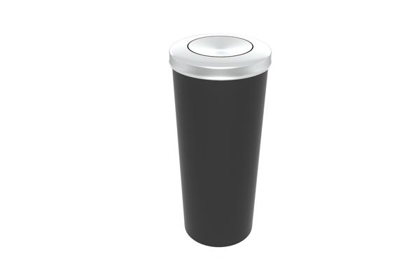 Lixeira com Tampa Vai e Vem Inox 20 Litros Preto - Só Lixeiras  - ShopNoroeste.com.br
