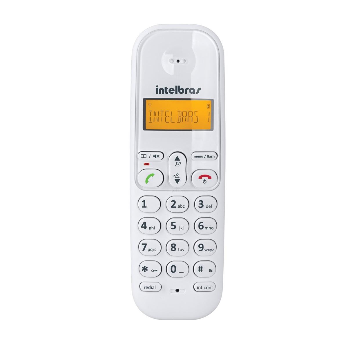 Telefone Sem Fio Digital Intelbras TS 3110 Branco  - ShopNoroeste.com.br
