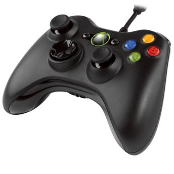Joystick Microsoft para Xbox360/PC com Fio Preto - S9F-00001  - ShopNoroeste.com.br