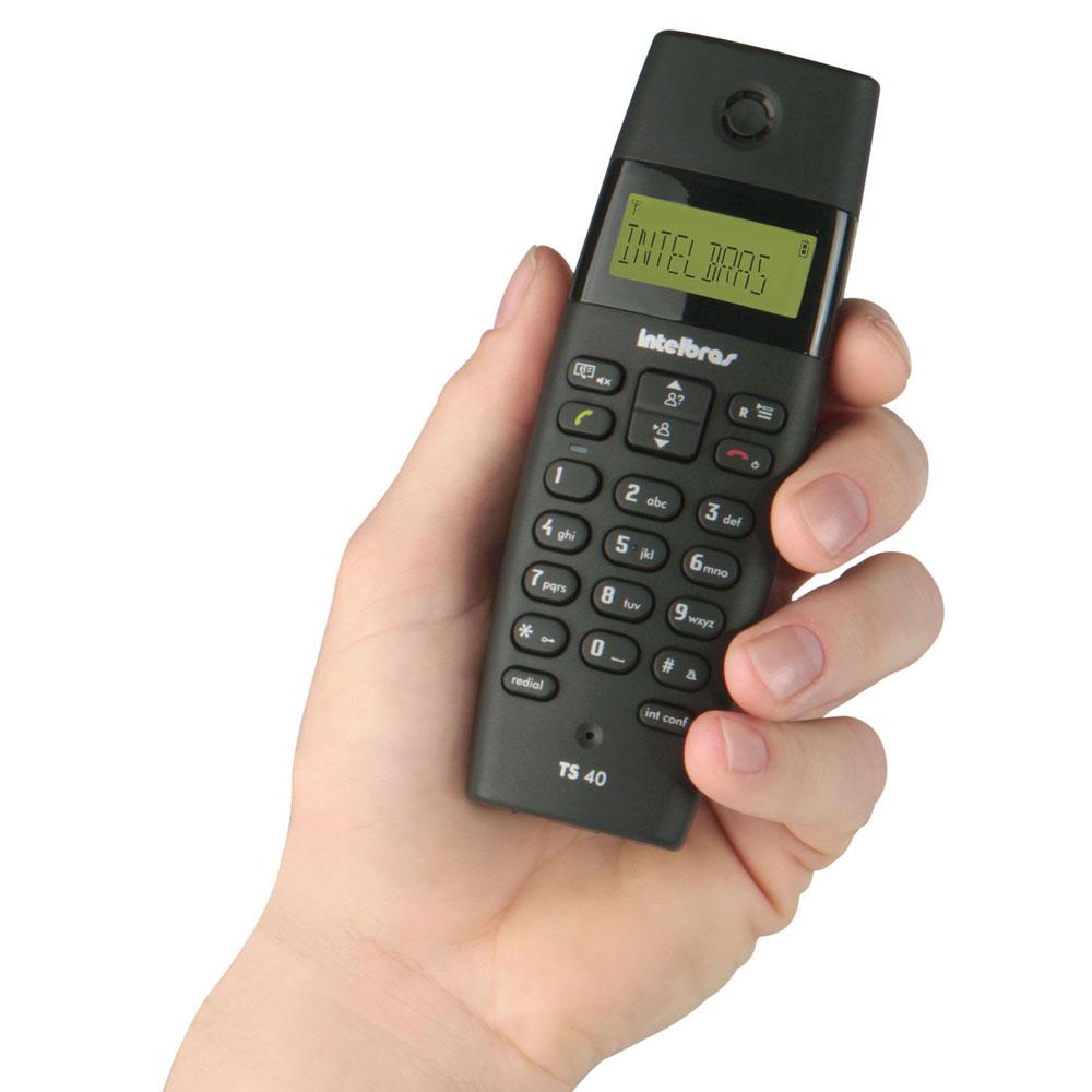 Telefone Sem Fio Intelbras Dect 6.0 com Identificador de Chamadas TS40 ID - Preto  - ShopNoroeste.com.br
