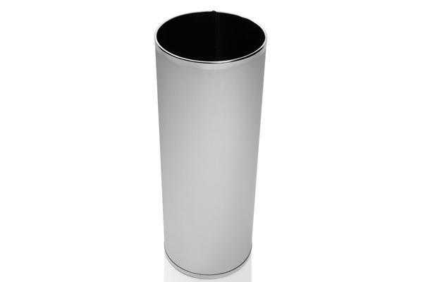 Cesto Inox Escovado com Acabamento em Inox Polido 32 Litros - Só Lixeiras  - ShopNoroeste.com.br