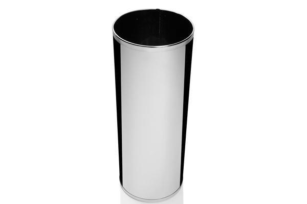 Cesto Inox Polido 32 Litros - Só Lixeiras  - ShopNoroeste.com.br