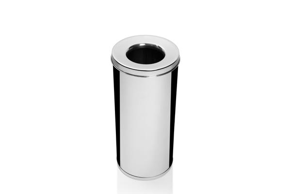 Cesto para Lixo Inox Polido com Abertura Superior 19,5 Litros - Só Lixeiras  - ShopNoroeste.com.br