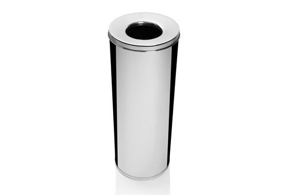 Cesto para Lixo Inox Polido com Abertura Superior 32 Litros - Só Lixeiras  - ShopNoroeste.com.br