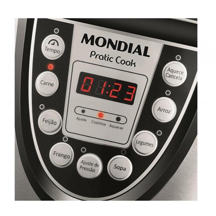 Panela de Pressão Elétrica Pratic Cook 4L 127V, Display Digital, 6 Funções Programaveis - PE-09 - Mondial  - ShopNoroeste.com.br
