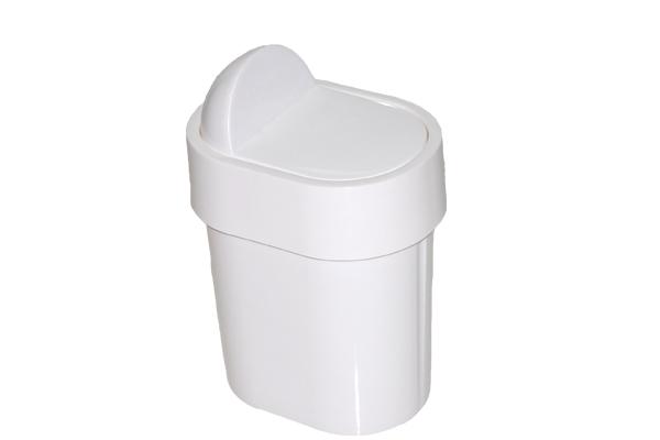 Lixeira para Pia com Tampa Fixa 4 Litros Branca - Só Lixeiras  - ShopNoroeste.com.br