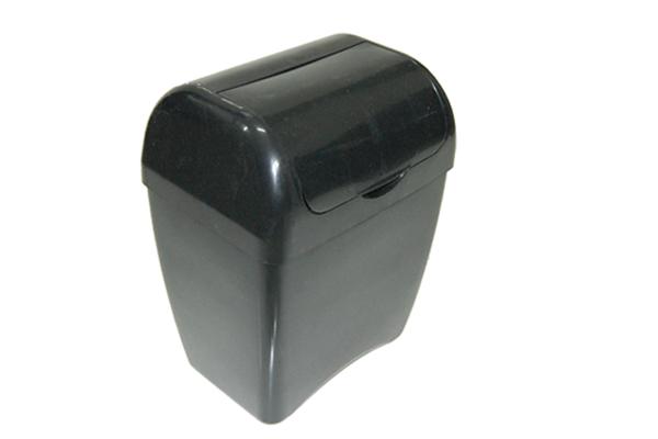 Lixeira com Tampa Fixa 4 Litros Preto - Só Lixeiras  - ShopNoroeste.com.br