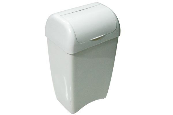 Lixeira com Tampa Fixa 6,6 Litros Branco - Só Lixeiras  - ShopNoroeste.com.br