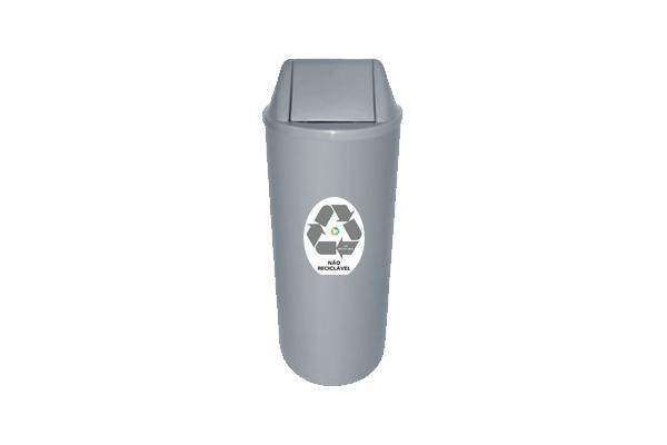 Lixeira com Tampa Vai e Vem 20 Litros para Descarte Não Reciclável - Só Lixeiras  - ShopNoroeste.com.br