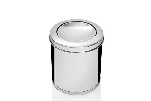Lixeira Inox com Tampa Vai e Vem 9,8 Litros - Só Lixeiras  - ShopNoroeste.com.br