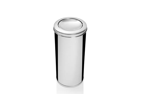 Lixeira Inox com Tampa Vai e Vem 19,5 Litros - Só Lixeiras  - ShopNoroeste.com.br
