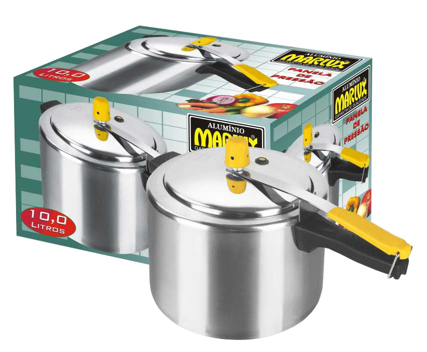 Panela de Pressão 10 Litros Polida - Marlux  - ShopNoroeste.com.br